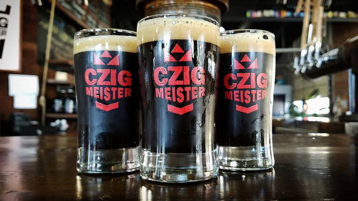 Stout beer in glasses