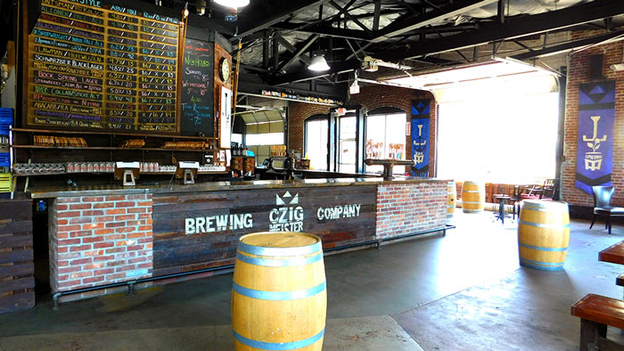 Interior of Czig Meister Brewing
